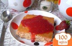 Фото рецепта: «Творожная запеканка с клубникой»