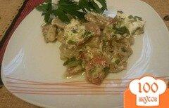Фото рецепта: «Молодой картофель с овощами под сметаной»