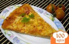 Фото рецепта: «Пицца с колбасой и двумя видами сыра»