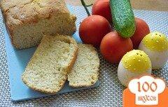 Фото рецепта: «Хлеб с чесноком и луком в хлебопечке»