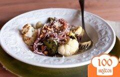 Фото рецепта: «Спагетти с цветной капустой и брокколи»