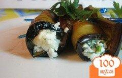 Фото рецепта: «Рулеты из баклажанов с творогом»