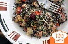 Фото рецепта: «Салат из дикого риса под соусом тахини»