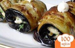 Фото рецепта: «Рулеты из баклажанов с сыром»