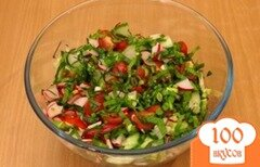 Фото рецепта: «Салат из черемши и редиса»