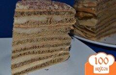Фото рецепта: «Кофейный торт с заварным кремом (на сковороде)»