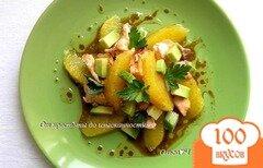 Фото рецепта: «Салат с лососем-гриль, апельсином и авокадо»