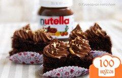 """Фото рецепта: «Шоколадное пирожное """"Nutella""""»"""