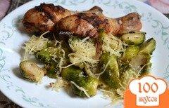 Фото рецепта: «Куриные ножки с брюссельской капустой»