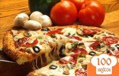 Фото рецепта: «Пицца на сковороде с сыром»