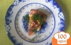 Фото рецепта: «Омлет в духовке с колбасой»