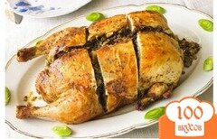 Фото рецепта: «Курица фаршированная грибами»