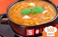 Фото рецепта: «Томатный крем-суп с макаронами»