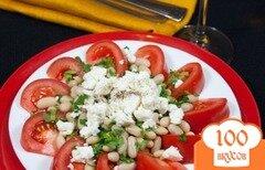 Фото рецепта: «Салат из томатов и фасоли в средиземноморском стиле»