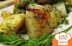 Фото рецепта: «Семга с картошкой в мультиварке»