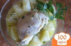 Фото рецепта: «Картошка с куриным мясом»