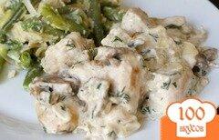Фото рецепта: «Курица с шампиньонами»