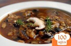 Фото рецепта: «Суп грибной с гречкой»