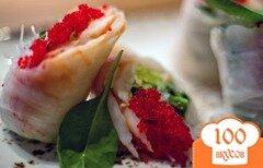 Фото рецепта: «Роллы с королевскими креветками»