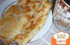 Фото рецепта: «Дрожжевые блинчики с апельсином»