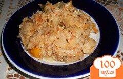 Фото рецепта: «Капуста тушеная с рисом и морковью»
