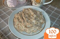 Фото рецепта: «Каша овсяная на пломбире»