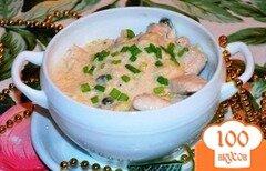 Фото рецепта: «Куриное филе в сливочном соусе с каперсами по мадридски»