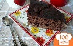 Фото рецепта: «Простой кекс с какао в мультиварке»