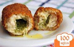 Фото рецепта: «Котлеты по-киевски с куриным фаршем»