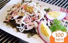 Фото рецепта: «Салат с морской капустой»