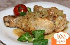 Фото рецепта: «Куриная голень на сковороде»