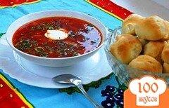 Фото рецепта: «Борщ украинский с чесночными пампушками»