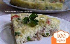 Фото рецепта: «Фриттата с курицей и овощами в мультиварке»