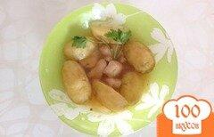 Фото рецепта: «Тушенная картошка с курицей»