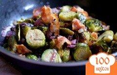 Фото рецепта: «Брюссельская капуста с беконом»