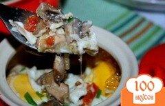 Фото рецепта: «Грибы в духовке в горшочке»