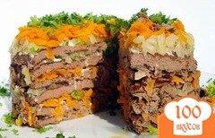 Фото рецепта: «Печеночный торт с морковью»