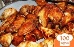 Фото рецепта: «Куриные крылышки в соусе»