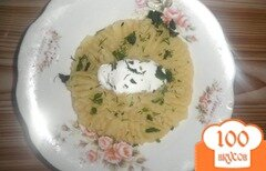 Фото рецепта: «Картофельное пюре со сметаной и зеленью»
