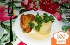 Фото рецепта: «Курица под луковым соусом»