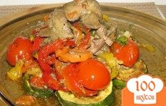 Фото рецепта: «Куриная печень с овощами»