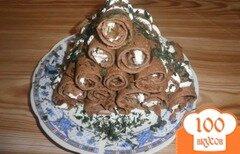 Фото рецепта: «Печеночные рулетики с начинкой»