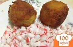 Фото рецепта: «Крокеты картофельные с начинкой из крабового мяса»
