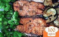 Фото рецепта: «Семга запеченная в духовке с овощами»