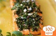 Фото рецепта: «Запеченный лосось с травами и лимоном»