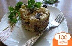Фото рецепта: «Овощной салат с говядиной и маринованным сельдереем»