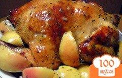 Фото рецепта: «Курица я яблоками в духовке»