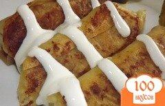 Фото рецепта: «Рулеты из лаваша с печенью»
