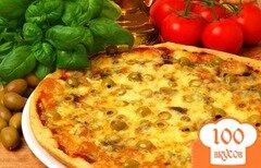 Фото рецепта: «Пицца с морепродуктами в мультиварке»