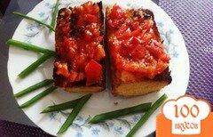 Фото рецепта: «Брускетта с помидорами»